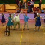 Ending<br>Dancers (L-R): Debbie Weist, Jane Haskins, Justin Golnik, Randy Rouda, Matt Lee, Richard Phillis, Connie Carlson, Tina Conti