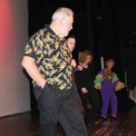 Del Norte Dance Delight: 2007<br>Lee, Jacob, Morgan, & Lillian warming up on stage.
