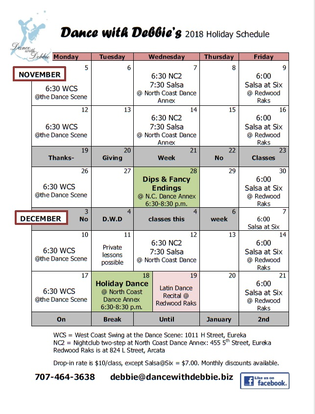 2018 Holiday Schedule